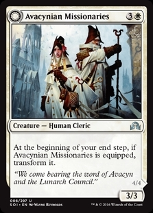 Avacynian Missionaries // Lunarch Inquisitors - Shadows over Innistrad - Uncommon