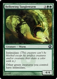 Bellowing Tanglewurm - Scars of Mirrodin - Uncommon