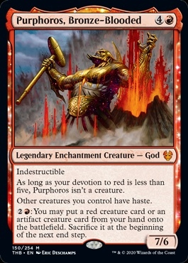 Purphoros, Bronze-Blooded - Theros Beyond Death - Mythic Rare