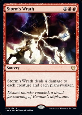 Storm's Wrath - Theros Beyond Death - Rare