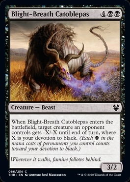 Blight-Breath Catoblepas - Theros Beyond Death - Common