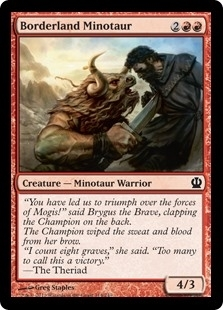 Borderland Minotaur - Theros - Common