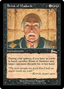 Brink of Madness - Urza's Legacy - Rare
