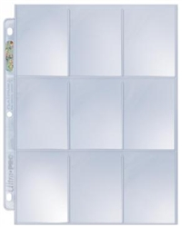 Ultra Pro D-Ring 9 Pocket Binder Pages (100)
