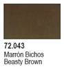 Game Color 17ml - Beasty Brown