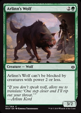 Arlinn's Wolf - War of the Spark - Common