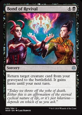 Bond of Revival - War of the Spark - Uncommon