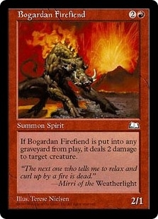 Bogardan Firefiend - Weatherlight - Common