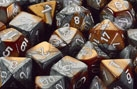 Chessex 12D6 - 16mm Gemini Copper-Steel with White Pips