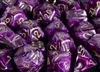 Chessex 12d6 - 16mm Vortex Purple with Gold Pipps