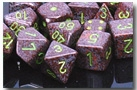 Chessex 12D6 - 16mm Speckled Earth with Green Pipps