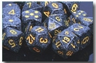 Chessex 12D6 - 16mm Speckled Urban Camo with Yellow Pipps