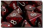 Chessex 12D6 - 16mm Speckled Volcano with Silver Pipps