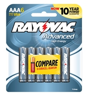Rayovac - AAA - 1.5V - Advanced High Energy Alkaline Battery - 6-Pack