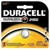 Duracell With Duralock Technology -  DL2450 - 3V - Lithium Button Battery - 1-Pack