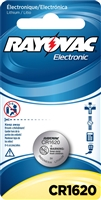 Rayovac -  CR1620 - 3.0V - Lithium Button Battery - 1-Pack