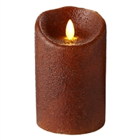 "Luminara - Flameless LED Candle - Indoor - Wax - Country Yam - 3.5"" x 5"" - Remote Ready"