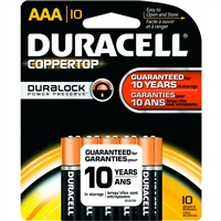 Duracell Coppertop With Duralock Technology - AAA - 1.5V - Alkaline Battery - 10-Pack