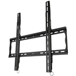 Low profile flat TV wall mount bracket with post installation leveling 1.4 inch depth from wall dual stud mounting VESA compatible