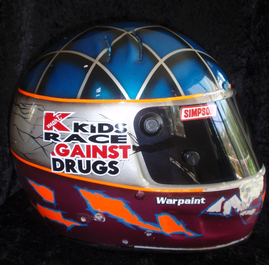 Shawna Robinson S Race Worn Sampson Helmet With Custom