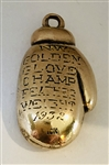 1932 Golden Glove 10K Gold Feather Weight Champions Pendant!