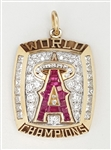 2002 Anaheim Angels World Series Champions 14K Gold Pendant