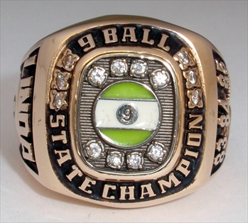 1985 Ladies 9-Ball Billards Championship 14K Gold Ring