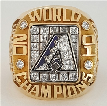 2001 Arizona Diamondbacks World Series Champions 14K Gold Ring with All Real Diamonds