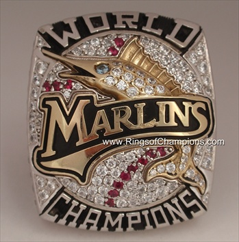 2003 Florida Marlins World Series Champions 10K Gold Ring!