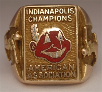 "1954 Indianapolis Indians ""American Association Champions"" 10K Gold Ring"