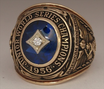 "1956 Indianapolis Indians A..A.. Junior ""World Series"" Champions 10K Gold Ring"