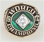 1972 Oakland A's World Series Champions 10K Yellow Gold Ring!