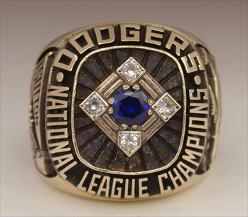 "1977 Los Angeles Dodgers World Series ""National League"" Champions 14K Gold Ring"