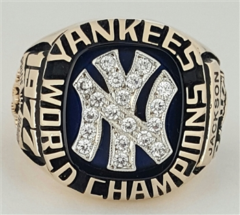 1977 N.Y. Yankees World Series Champions 10K Gold Ring