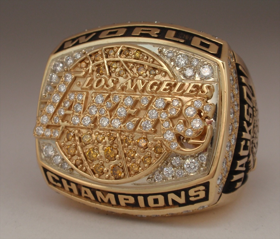 2000 L A Lakers Nba World Champions 14k Gold Proto Type Ring