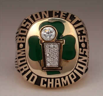 1986 Boston Celtics NBA World Champions 10K Gold Ring!
