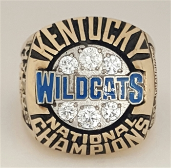 1996 Kentucky Wildcats Basketball National Champions 10K Gold Ring