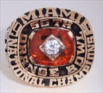 "1983 Miami Hurricanes ""National Champions"" 10K Gold Ring"