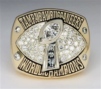 2002 Tampa Bay Buccaneers Super Bowl XXXVII Champions 14K Gold & Diamond Ring