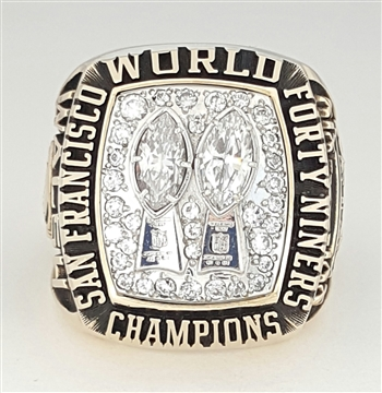 1984 San Francisco 49ers Super Bowl XIX Champions 10K Gold Ring!