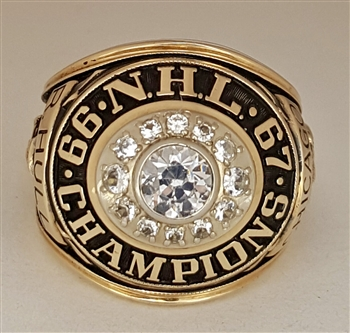 1966-67 Chicago Blackhawks NHL Champions 10K Gold Ring!