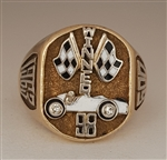 1963 Indianapolis 500 Parnelli Jones 10K Gold & Diamond Championship Winner's Ring!