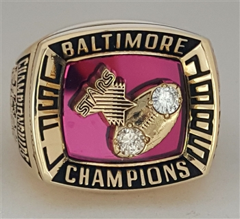 1985 Baltimore Stars USFL Champions 10K Gold Ring