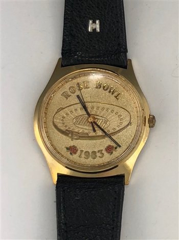 Anthony Carter's 1983 Michigan Wolverines Rose Bowl Watch with LOA