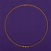 Lost Cubit 1 1/2 Light-Life Ring, copper, 24K gold pl., 3 beads