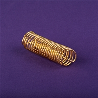 Sacred Cubit Light-Life Acu-Vac Coil, copper, 24K gold plated, wire inside