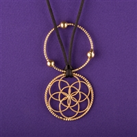 Lost Cubit 1/4 Light-Life Lotus Pendant, copper, 24K Gold Plated, Lacquered