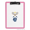 Crossed Racquets Clipboard