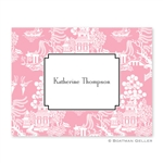 Chinoiserie Pink Folded Note