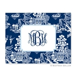 Chinoiserie Navy Folded Note